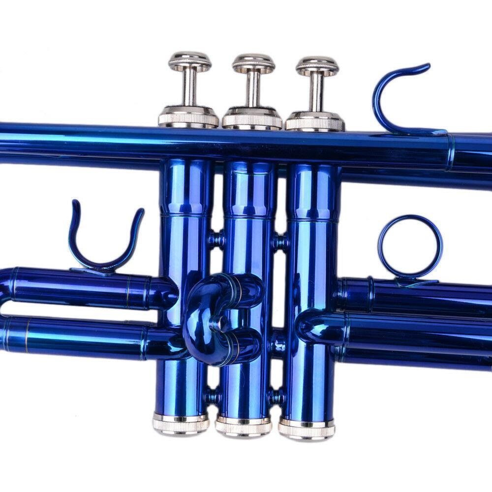thumbnail 6 - New 6 Colors School Student Band Brass B Flat Bb Trumpet with Case for Beginner