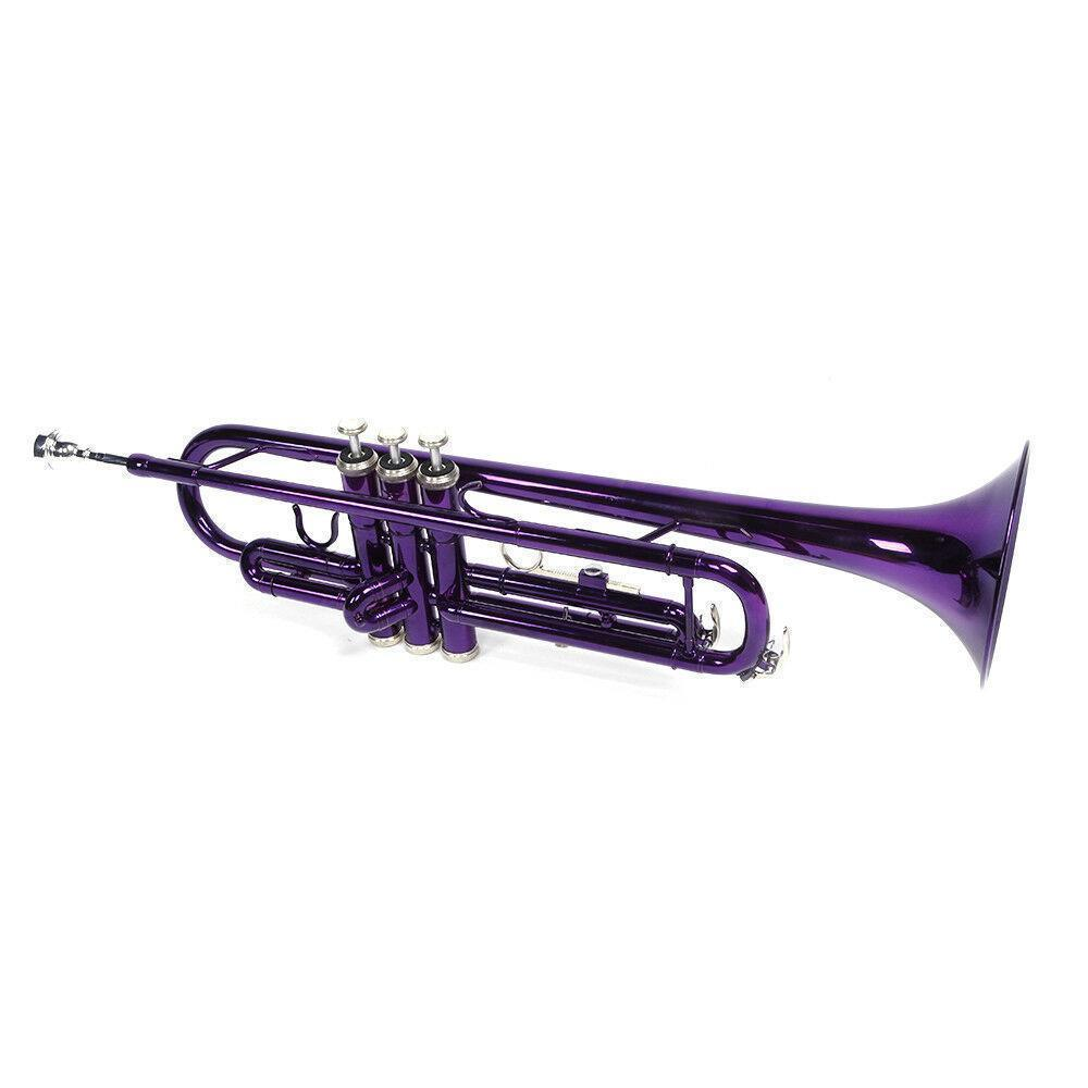 thumbnail 15 - New 6 Colors School Student Band Brass B Flat Bb Trumpet with Case for Beginner