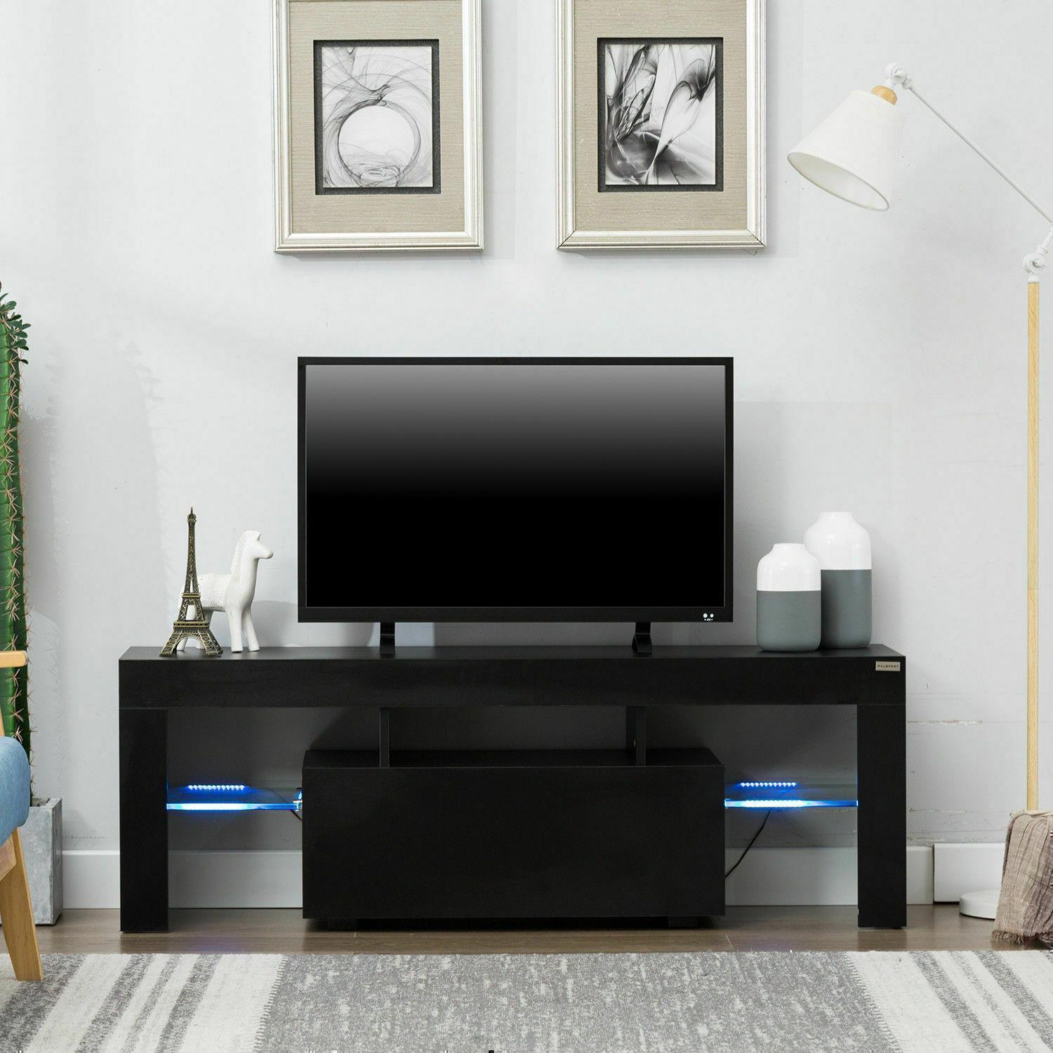 """thumbnail 8 - 51"""" Wood High Gloss LED TV Stand Entertainment Furniture Center Console Cabinet"""