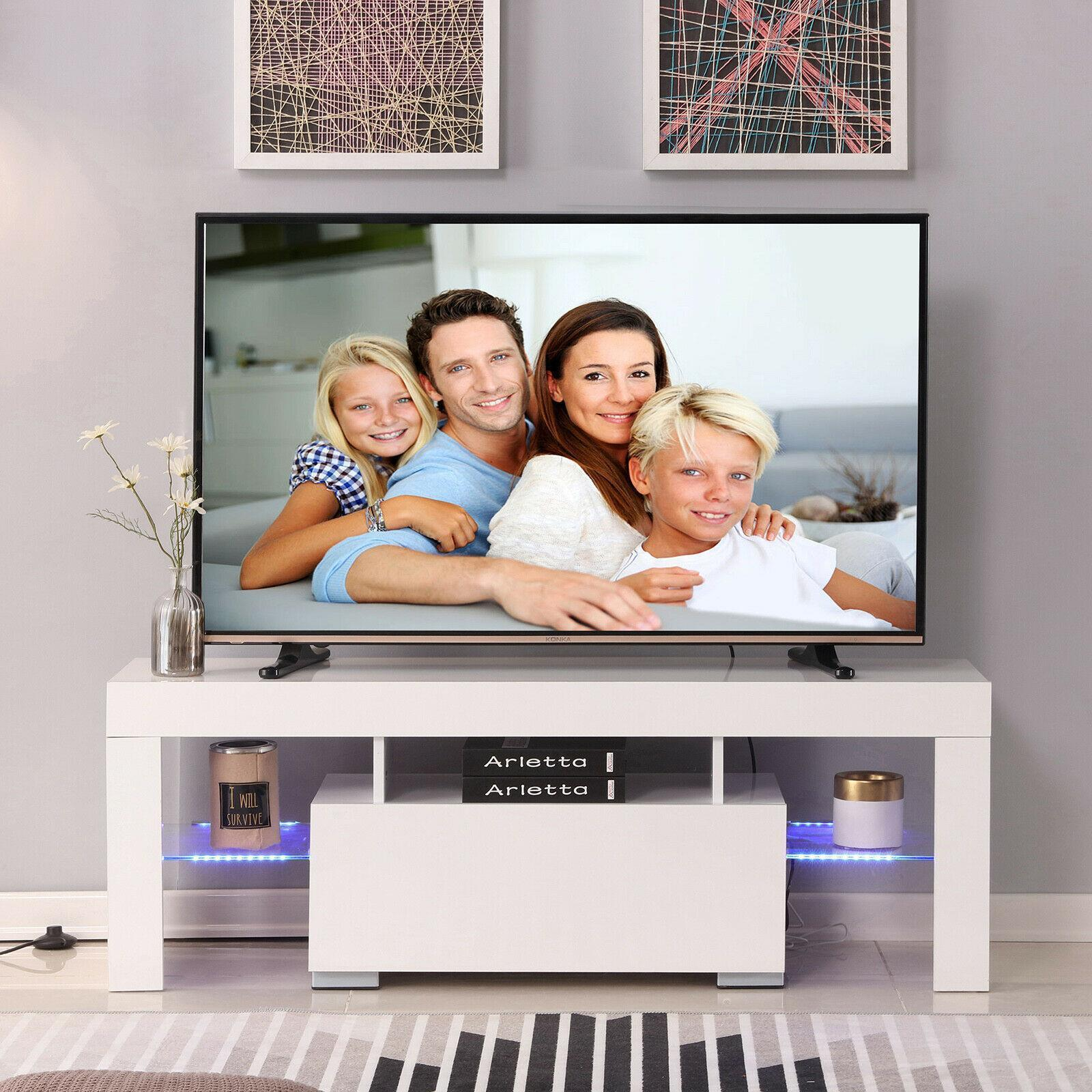 """thumbnail 6 - 51"""" Wood High Gloss LED TV Stand Entertainment Furniture Center Console Cabinet"""