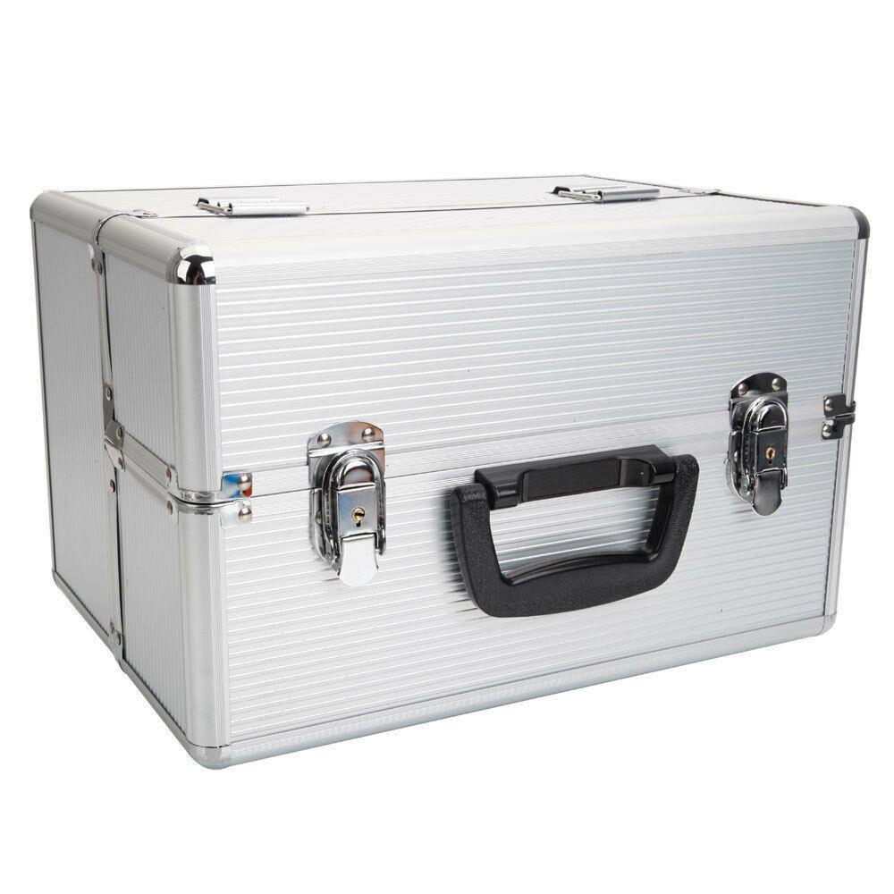 thumbnail 5 - Aluminum 4 in1 Rolling Makeup Trolley Train Case Box Organizer Salon Cosmetic