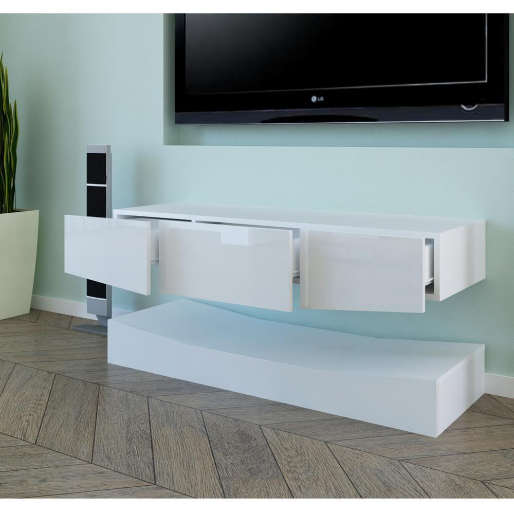 thumbnail 12 - High-Gloss-TV-Stand-Unit-Cabinet-w-LED-Shelves-Drawers-Remote-Control