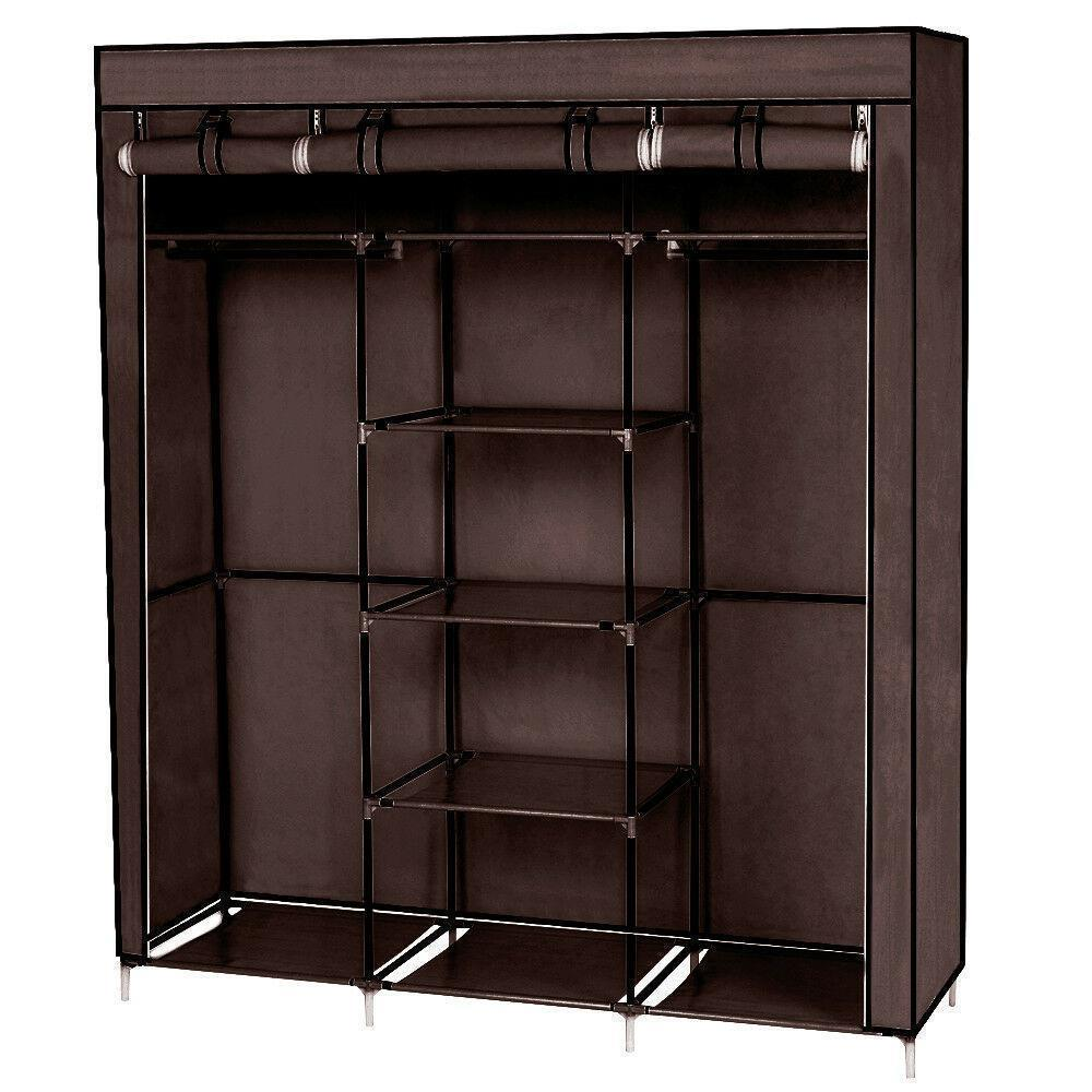 thumbnail 13 - High-Quality-69-034-Portable-Closet-Wardrobe-Clothes-Storage-Organizer-w-Shelf