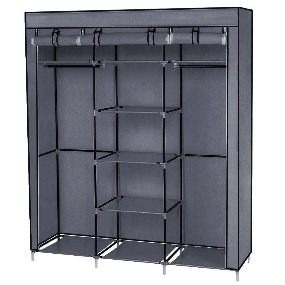 thumbnail 9 - High-Quality-69-034-Portable-Closet-Wardrobe-Clothes-Storage-Organizer-w-Shelf